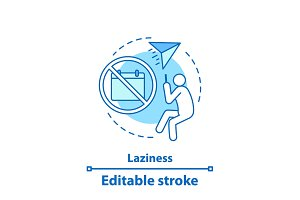 Laziness concept icon
