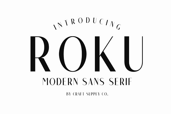 Fonts: Craft Supply Co. - Roku - Modern Sans Serif