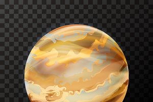 Realistic Jupiter with texture