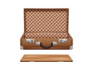 Old brown suitcase illustration