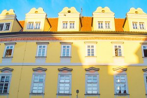 Traditional building wall Prague