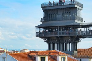 People at Lisbon view point