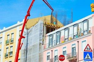 Construction cranes site Portugal