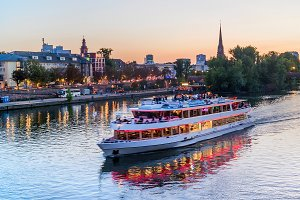 Frankfurt  touristic boat main river