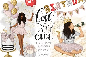 Best Day Ever Clipart Graphic Design