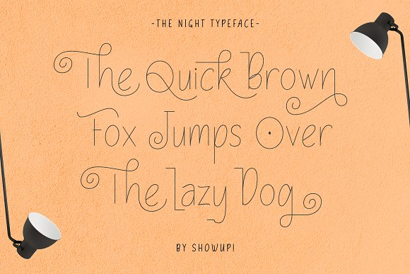 The Night Typeface in Display Fonts - product preview 2