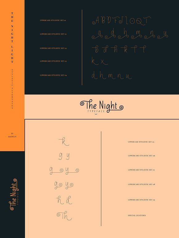 The Night Typeface in Display Fonts - product preview 11