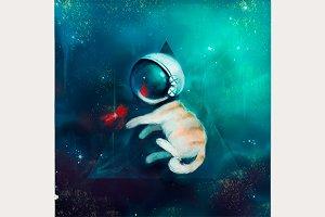 cat in space.