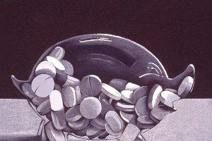 Pill Bank Handmade Illustration