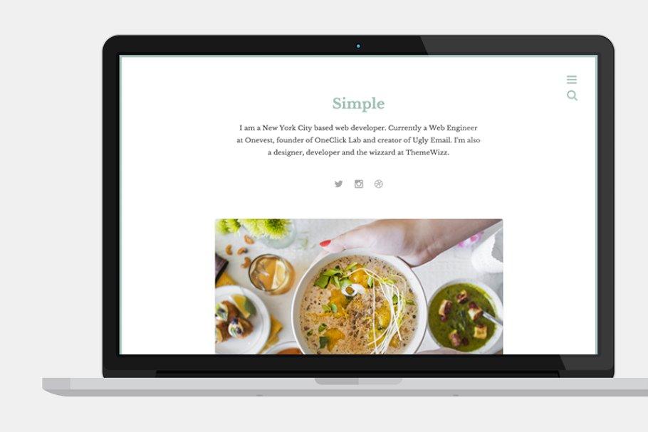 Simple: Clean Bloggin Theme