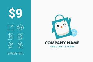 Penguin Shopping Bag Logo