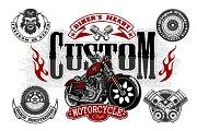 Vintage custom motorcycle label