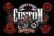 Motorcycle Chopper logo. Vector