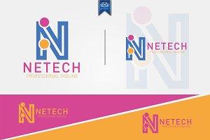 Letter N Tech Logo