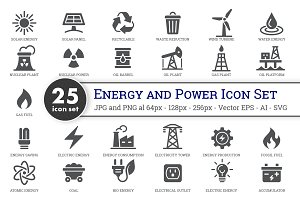 25 Energy and Power Icon Set