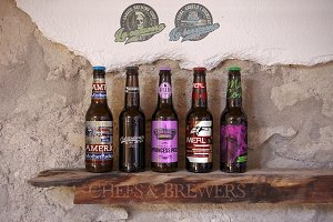 Beer | Bottle Wood Shelf Mockup
