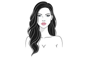 Vector illustration of a beautiful