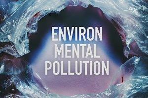 Environmental pollution by plastic b
