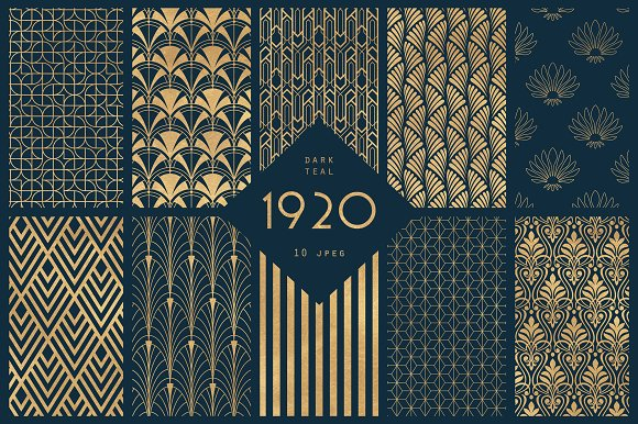 Strange 1920 Art Deco Seamless Patterns Download Free Architecture Designs Grimeyleaguecom
