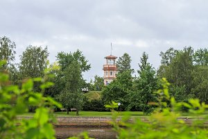 observation tower near the city