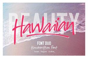 Hawaiian Font Duo + Swash