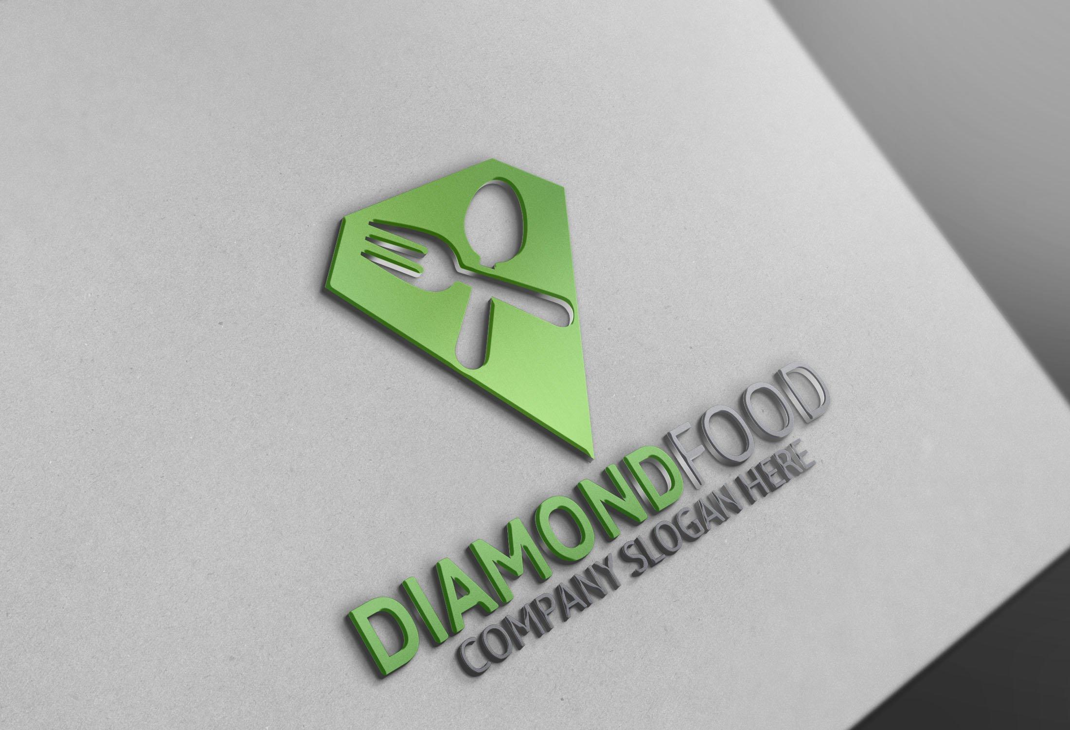 Diamond food logo logo templates creative market magicingreecefo Choice Image