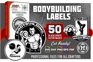 50 designs - Bodybuilding Labels