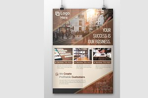 Unique Corporate Flyer Template
