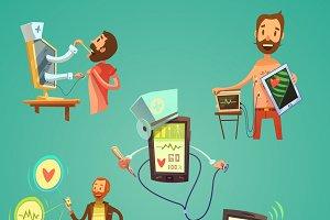Medicine cartoon set