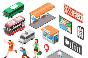 Bus terminal isometric set