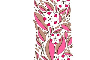 Seamless pattern with sakura or