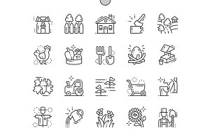 Village Line Icons