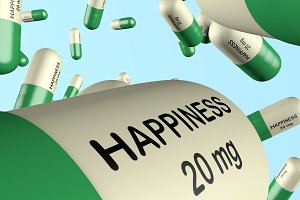 3d illustration antidepressant with