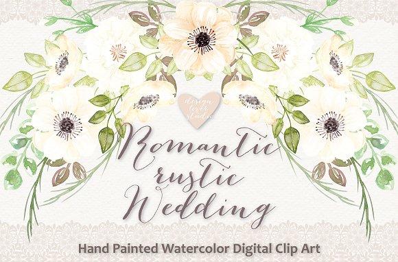 Watercolor Romantic Rustic Clipart Illustrations Creative Market