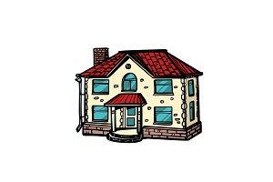 house isolate on white background