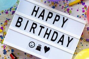 "Modern board ""Happy Birthday"""
