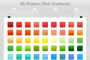 Photoshop Gradients: ICEwave Design - 85 Modern Photoshop Gradients