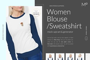 Women Sweatshirt Mock-ups Set DEMO