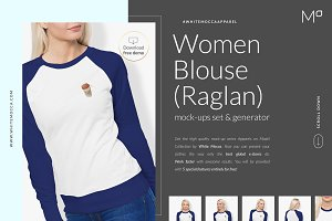 Women Raglan Mock-ups Set DEMO