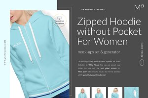 Women Hoodie Mock-ups Set DEMO