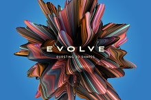 Evolve: Bursting 3D Shapes by  in Textures