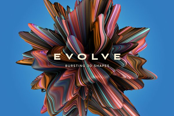 Textures: Chroma Supply - Evolve: Bursting 3D Shapes