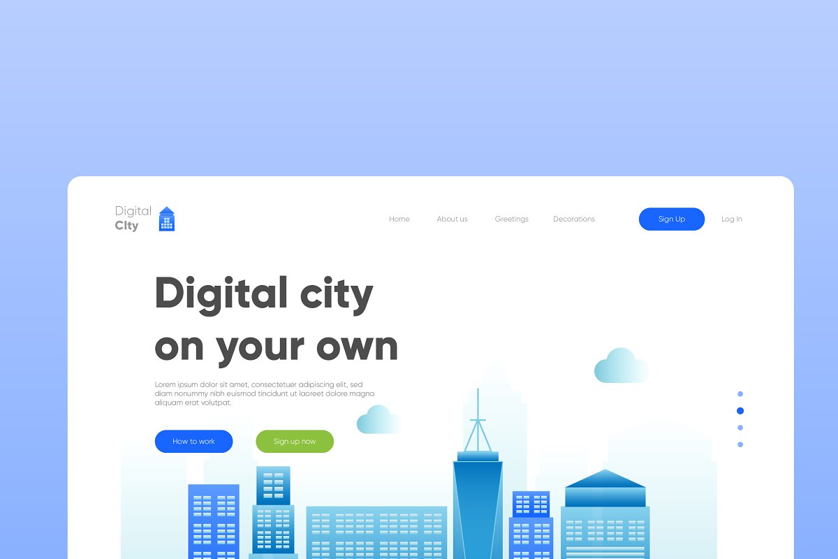 Digital City - Banner & Landing Page