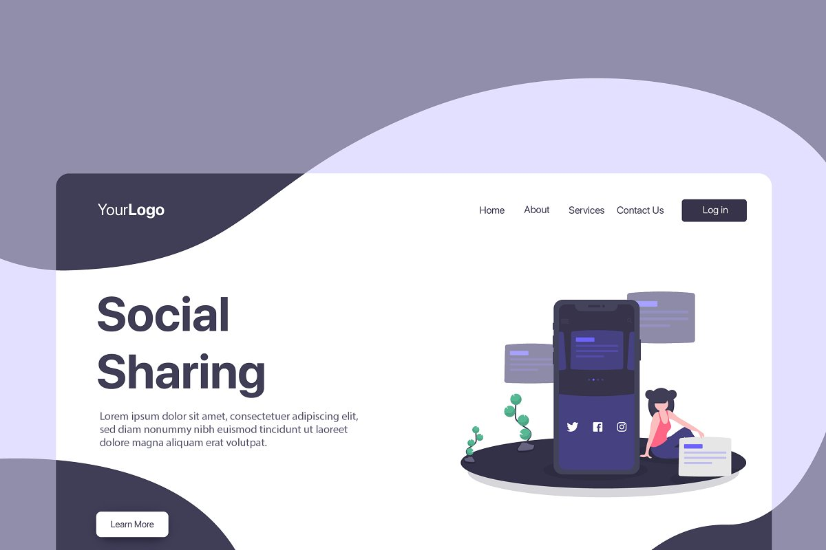 Social Sharing - Banner & Landing