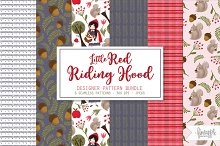 Little Red Riding Hood Pattern Pack by  in Illustrations