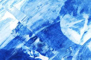 Blue and white brush stroke textured