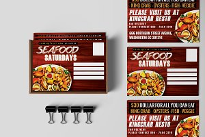 Seafood Saturdays Promotion PostCard