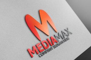 Media Max / M Letter Logo