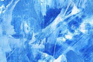 Blue paint textured backgroun