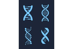 Set of DNA Icon Chains Genetic
